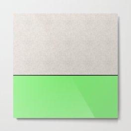 Bathing Conrete - In Matt Green, pop art, geometric style Metal Print