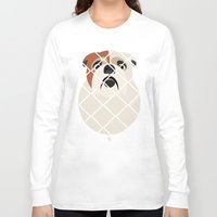 bulldog Long Sleeve T-shirts featuring Bulldog by SaveTheDogs.es