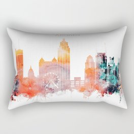 Atlanta City Skyline Rectangular Pillow