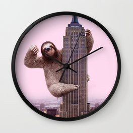 KING SLOTH Wall Clock
