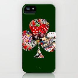 Club Playing Card Shape - Las Vegas Icons iPhone Case