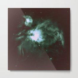 Dark Forest Green Teal Orion Nebula Metal Print