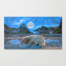 Just Chilling and Dreaming (Polar Bear) Canvas Print