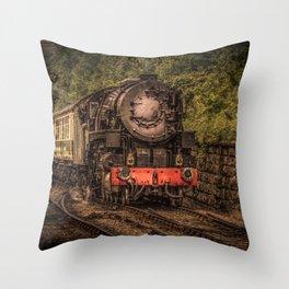 Express Train to Whitby Throw Pillow