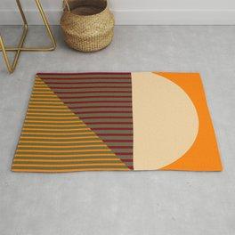 Geometric Abstract - Spring-Pantone Warm color Rug