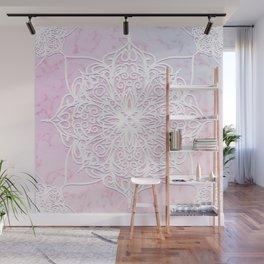 Candyfloss Marble Mandala Wall Mural