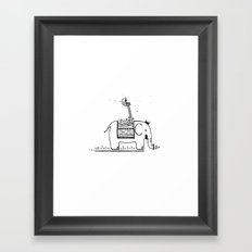 On My Elephant  Framed Art Print