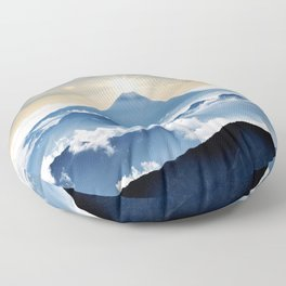 Mt. Fuji Sunrise Floor Pillow