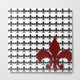 Red Fleur Metal Print