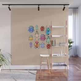 Insect pattern | Entomology art Wall Mural