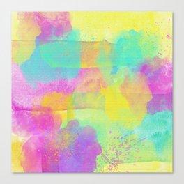 Rainbowcolors Watercolor Canvas Print