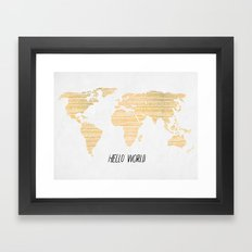 Hello World Framed Art Print