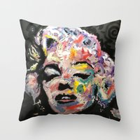 hollywood Throw Pillows featuring Hollywood by Matt Pecson
