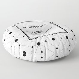 Plato - Touch of a Lover Floor Pillow
