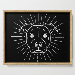 Radiant Dog Print – black and white Serving Tray