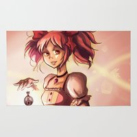 madoka magica Area & Throw Rugs featuring Madoka by Schewy