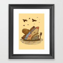 The Scarecrow Shark Framed Art Print