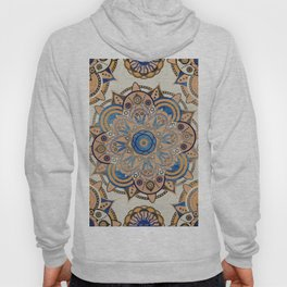 Blue and Gold Mandala Hoody