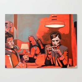 The Card Game Canvas Print
