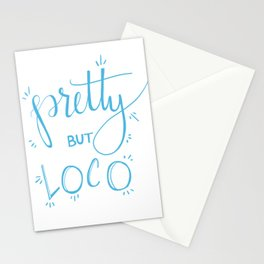 Pretty but Loco Stationery Cards
