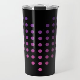 Gradient Heart of Dots Travel Mug