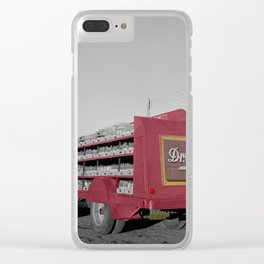 Vintage Dr Pepper Truck Clear iPhone Case