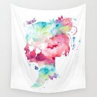 selfie Wall Tapestries featuring SELFIE by L'Atelier de Magie