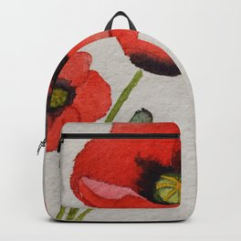 Watercolour Poppies Backpack