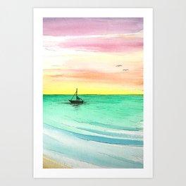 Rainbow Sunrise Art Print