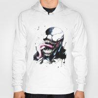 venom Hoodies featuring Venom  by Liam Shaw Illustration