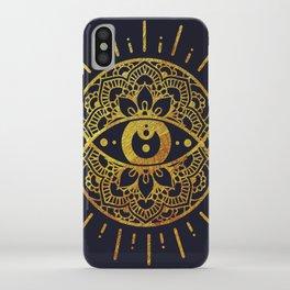 Golden Evil Eye Illustration iPhone Case