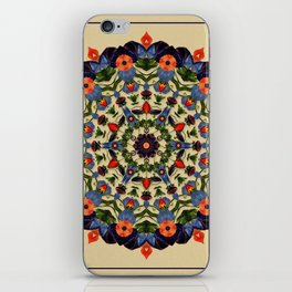 Flower and Fruit Collage Mandala iPhone Skin
