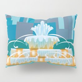 Chicago, Illinois - Skyline Illustration by Loose Petals Pillow Sham
