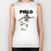 pirlo Biker Tanks featuring Andrea Pirlo by Rudi Gundersen