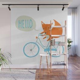 Bike fox Wall Mural