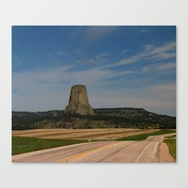 Road To Devils Tower Canvas Print