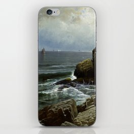 Castle Rock, Marblehead, 1878 by Alfred Thompson Bricher iPhone Skin