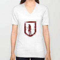 tomb raider V-neck T-shirts featuring Tomb Raider III. by 187designz