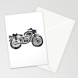 Motorcycle Linocut Block Print Stationery Cards