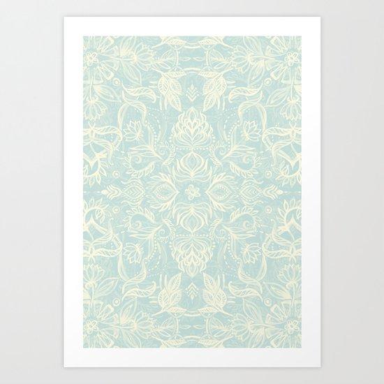 Pale Jade Tattoo - a pattern Art Print