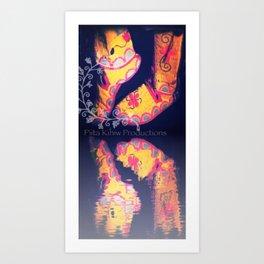 Beaded Moccasins Art Print