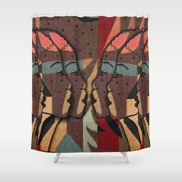 African Tapestry Shower Curtain by justkidding | Society6