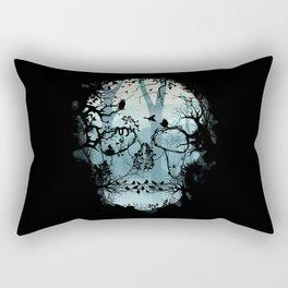 Dark Forest Skull Rectangular Pillow