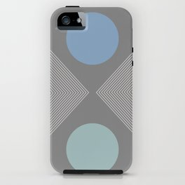 Earth And Moon - Mid-Century Minimalist iPhone Case