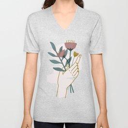 Bouquet Unisex V-Neck