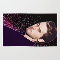 jared leto Area & Throw Rugs featuring Jared by Fernanda Maya