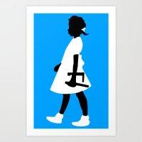 Ruby Walks Art Print