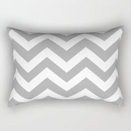 Dark medium gray - grey color - Zigzag Chevron Pattern Rectangular Pillow