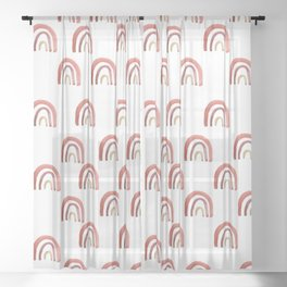 Fruit Punch Rainbow Sheer Curtain