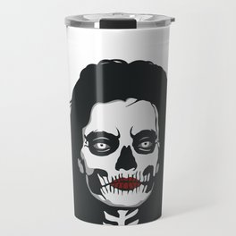 skeleton woman red lips Travel Mug
